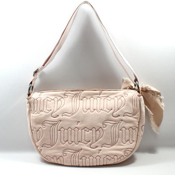 Juicy Couture Powder Pink Velvet Shoulder Bag Crossbody