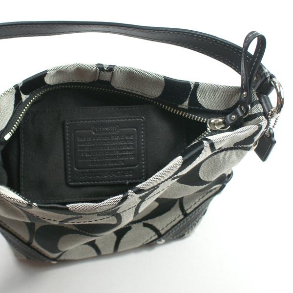 b4131e2c18d5 Home · Coach · Small Carly Signature Black Top Handle Pouch Bag. CLICK  THUMBNAIL TO ZOOM. Found ...