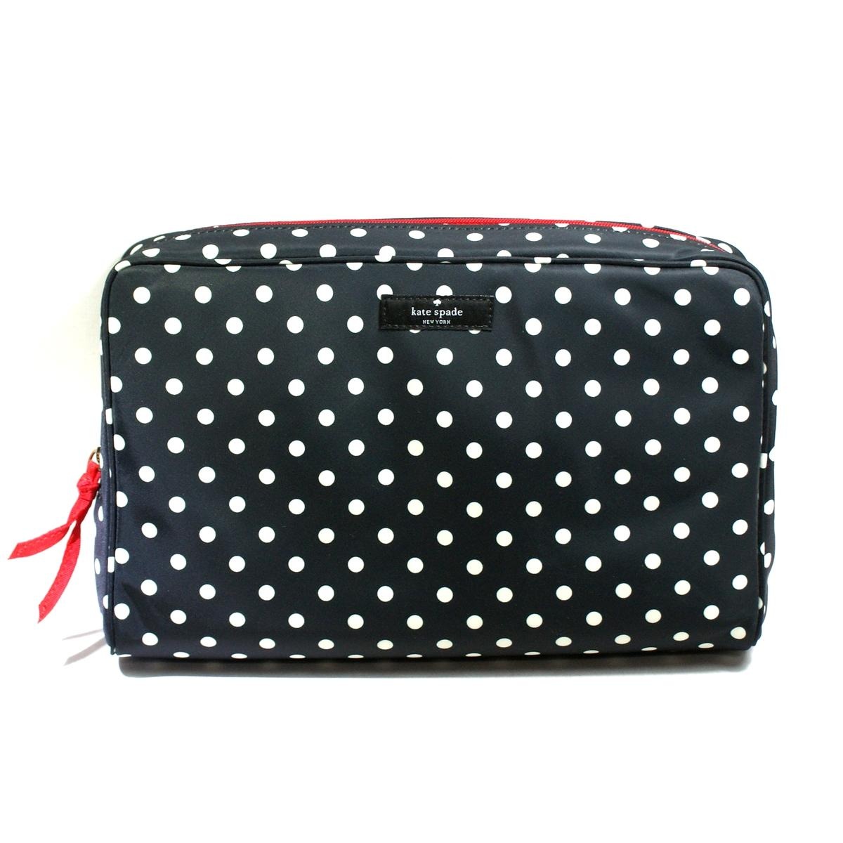 Kate Spade Large Henrietta Spot Nylon Cosmetic Bag # ...