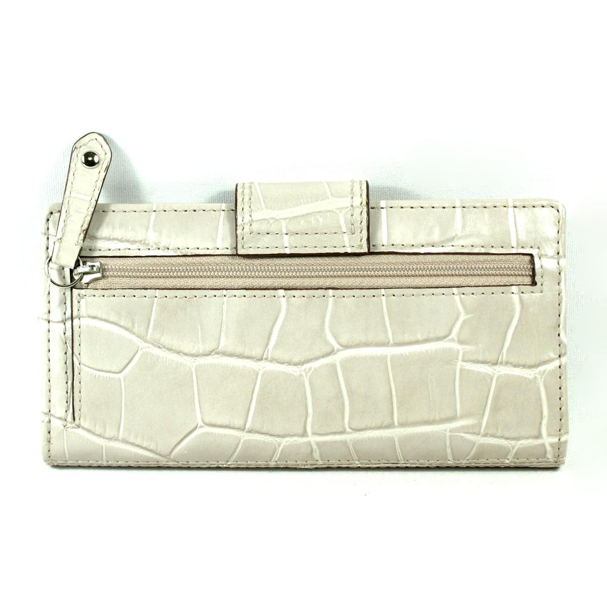 Coach Madison Embossed Crocodile Skinny Wallet 46632