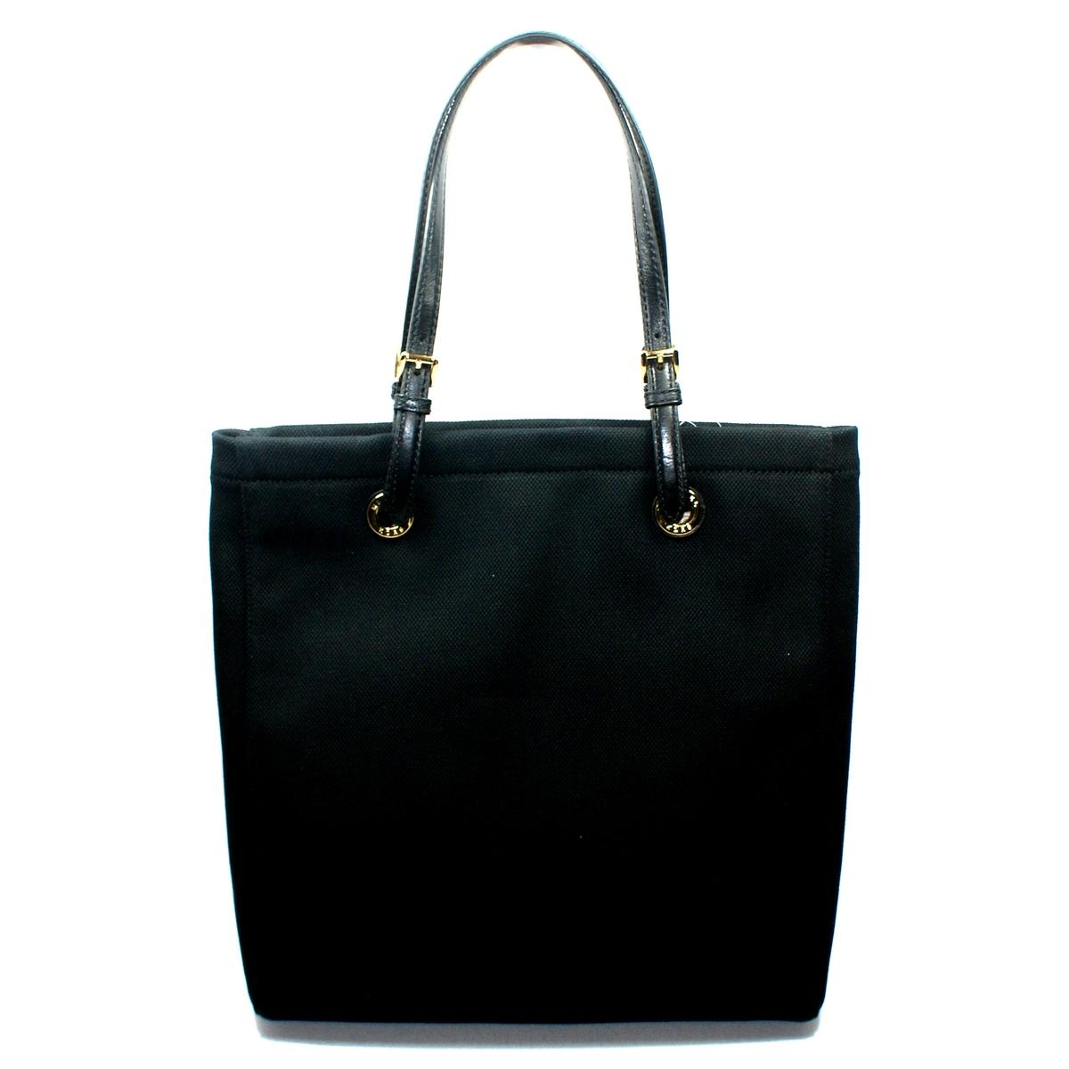 Michael Kors Jet Set Black Canvas Tote 38s1cttt3b