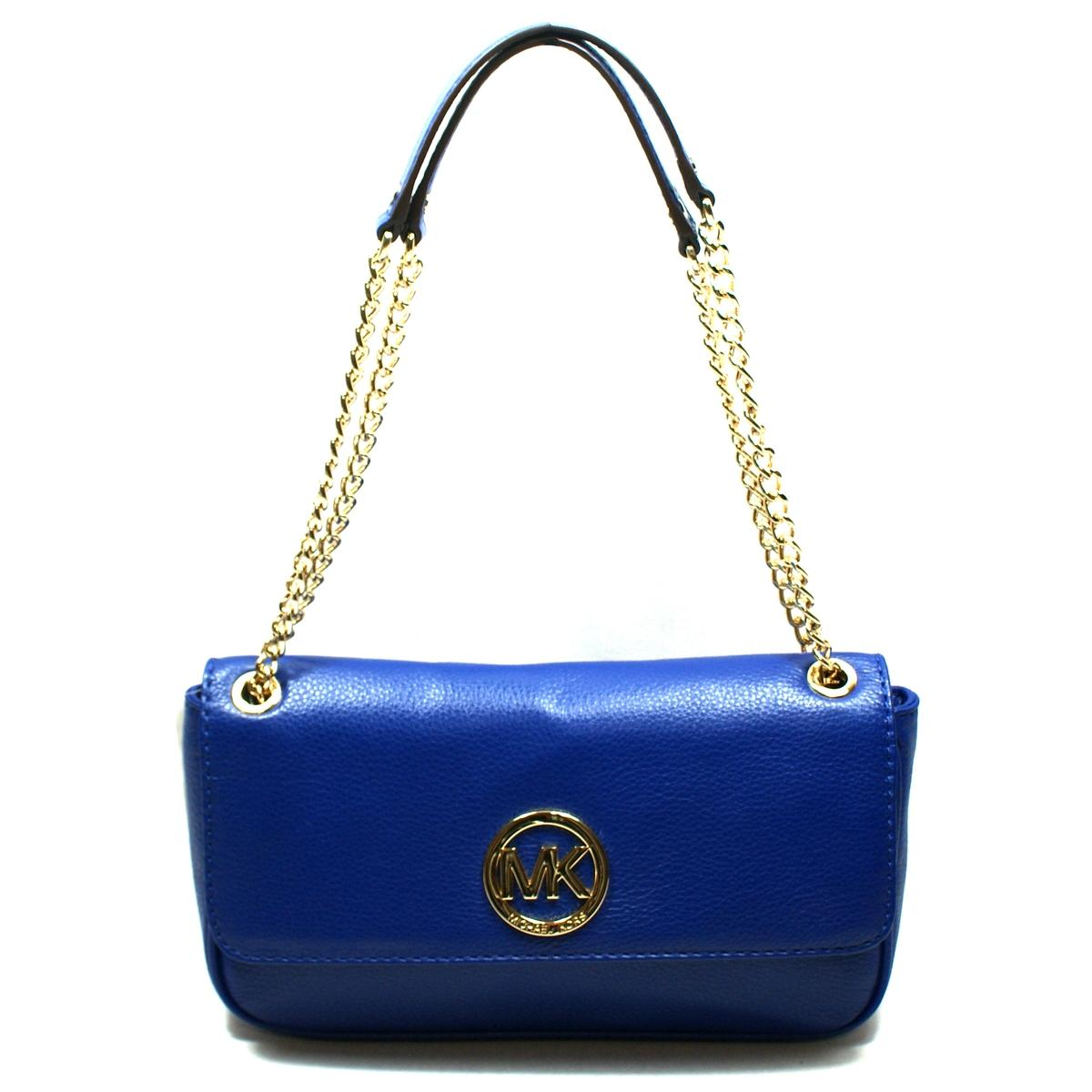 Hot Michael Kors Fulton Shoulder - Products Fulton Small Flap Genuine Leather Shoulder Bag Cadet P3688