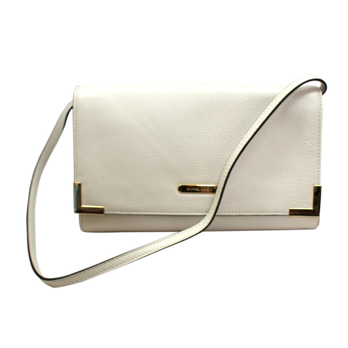 e74b4b2f1105 Home · Michael Kors · Beverly Genuine Leather Oversized Clutch/ Shoulder Bag  Vanilla. CLICK THUMBNAIL TO ZOOM. Found ...