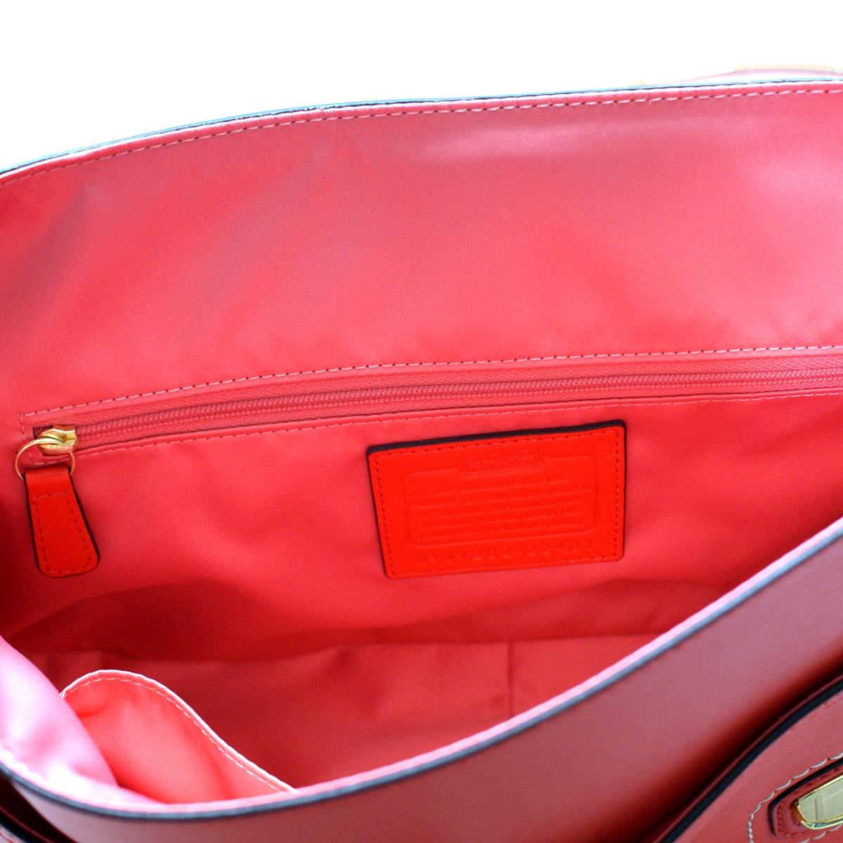 Coach Poppy Leather Colorbock Large Flight Bag/ Crossbody