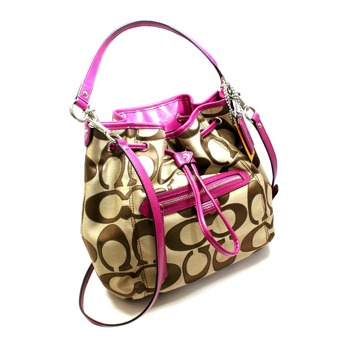 Coach Daisy Outlined Signature Drawstring / Crossbody Bag #25675 ...