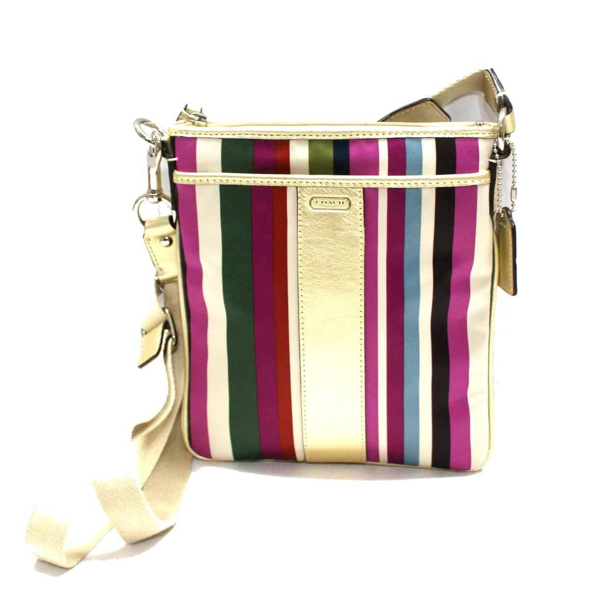 8d3fd4fd43 Coach Legacy Stripe Swingpack  Crossbody Bag Multi-color  48615B ...