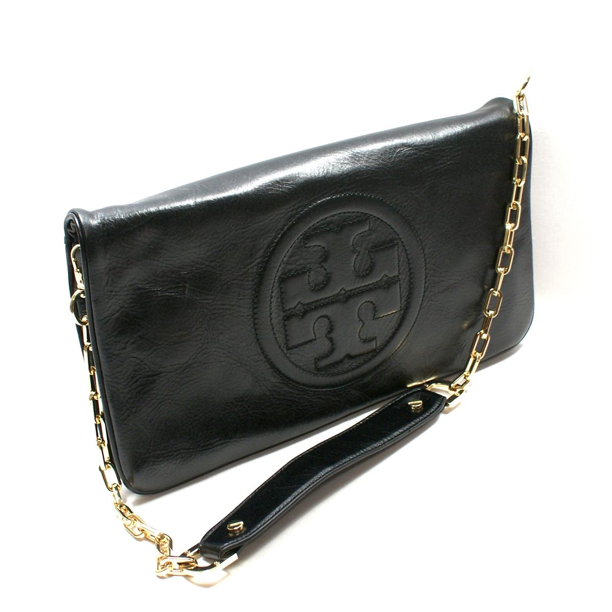 f152c5a97d9d Home · Tory Burch · Black Leather Bombe Reva Clutch  Shoulder Bag. CLICK  THUMBNAIL TO ZOOM. Found ...