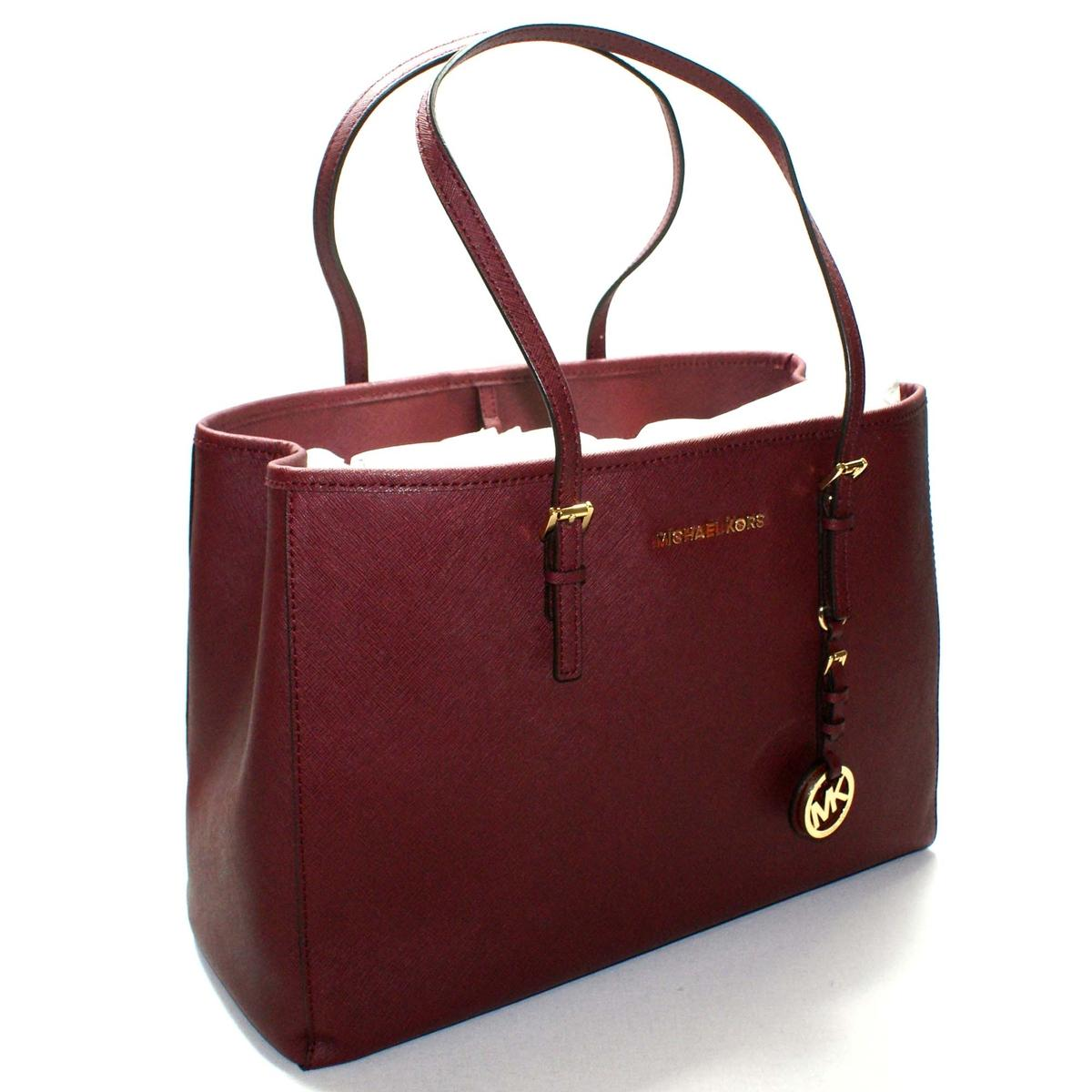57a630e08bd511 Home · Michael Kors · Saffiano Jet Set Travel East West Tote Cinnabar.  CLICK THUMBNAIL TO ZOOM. Found ...
