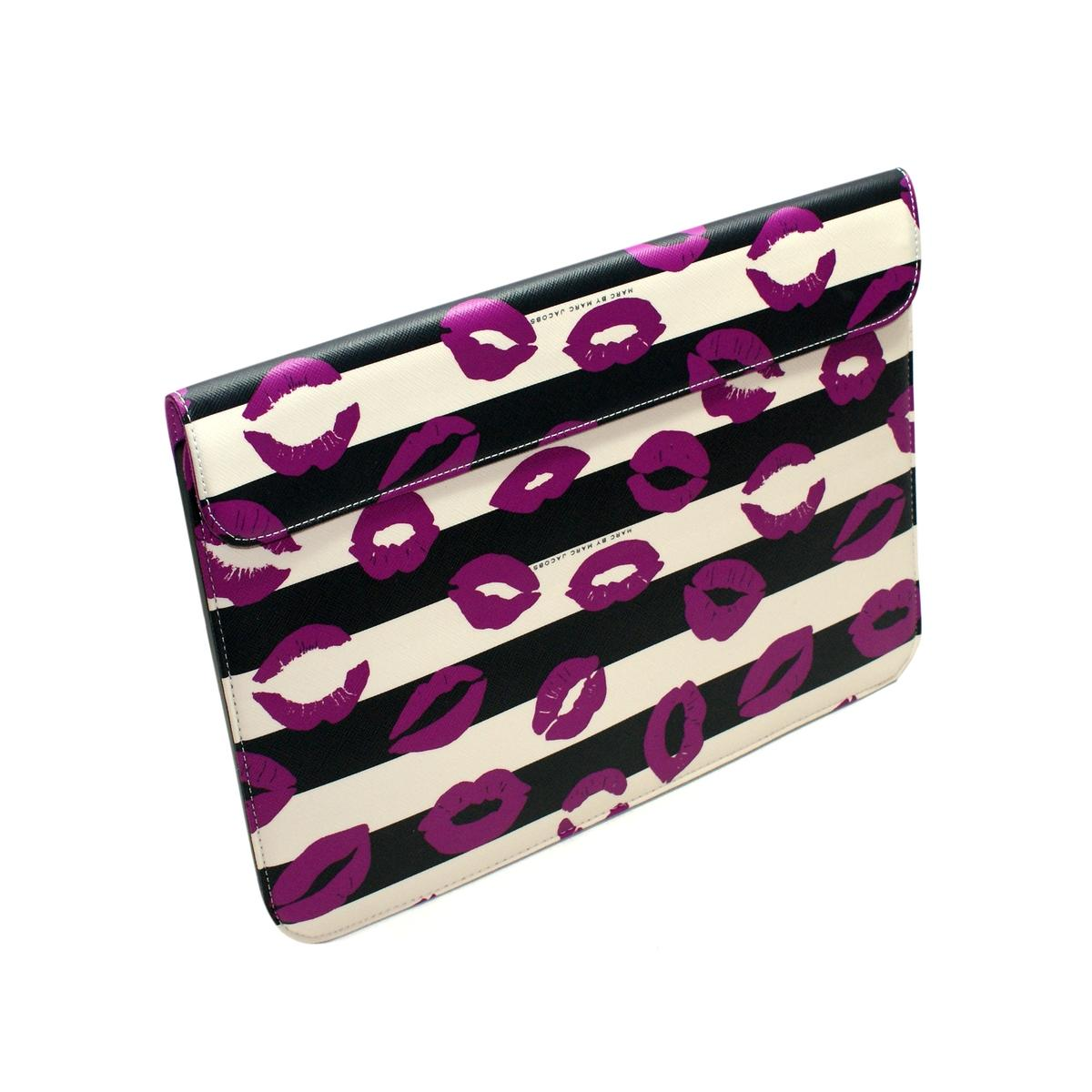 buy online b3539 4139f Marc By Marc Jacobs Stripey Lips Slip Sleeve for MacBook Air 13 Inch ...