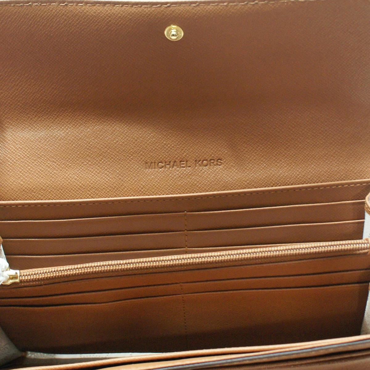 a41bec5c012d7 Home · Michael Kors · Hamilton Genuine Leather Large Flap Wallet Luggage.  CLICK THUMBNAIL TO ZOOM. Found ...