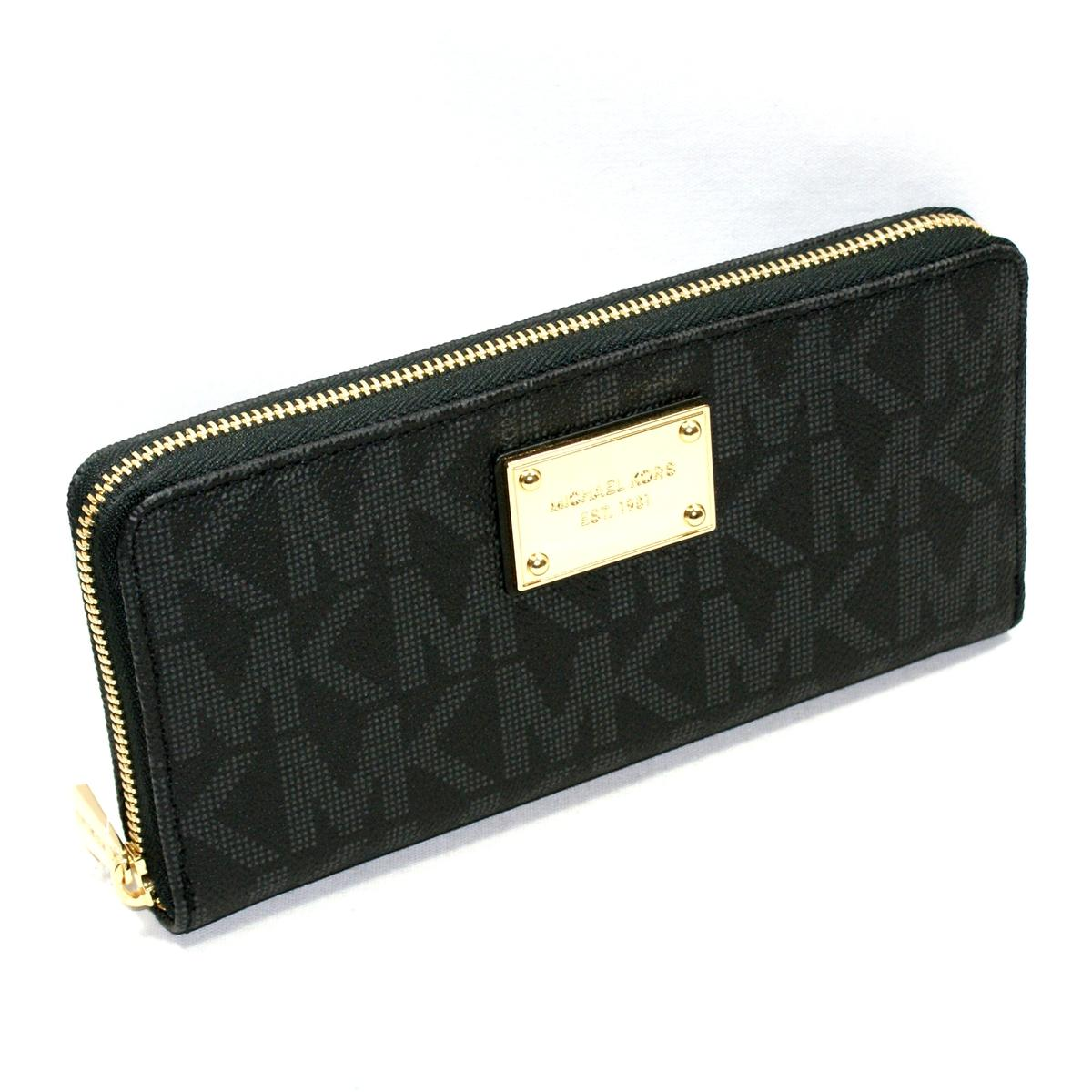 15f4536a9d Home · Michael Kors · Jet Set MK Signature PVC Continental Wallet/ Clutch  Black. CLICK THUMBNAIL TO ZOOM. Found ...