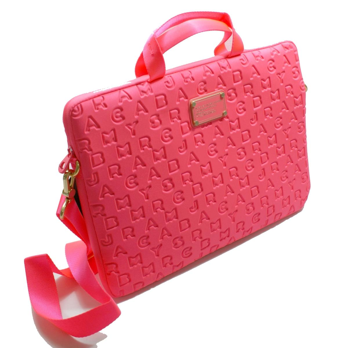 Marc By Marc Jacobs Highlighter Flamingo Neoprene 15 Inch
