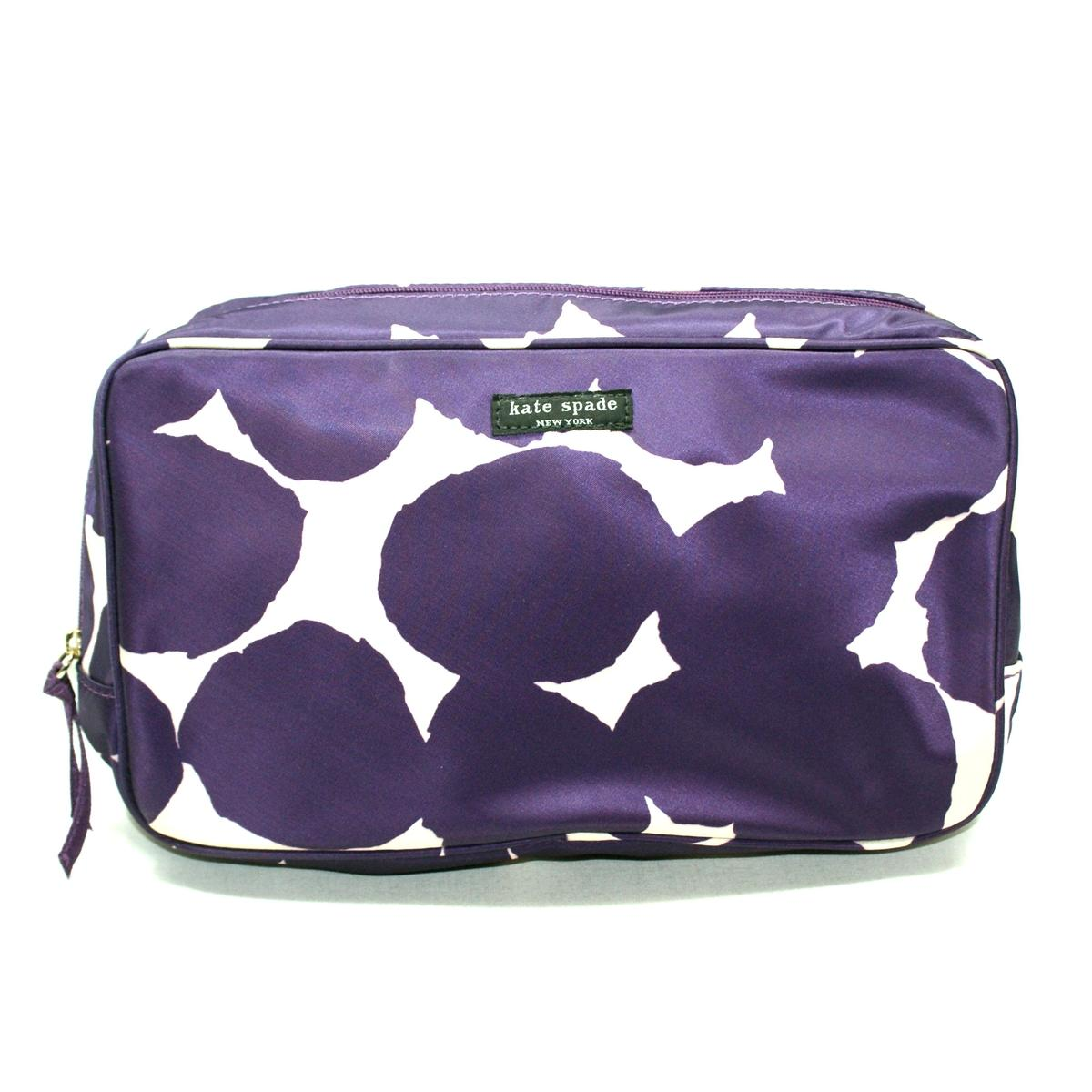 Kate Spade Splodge Dot Large Manuela Pouch/ Cosmetic Bag #WLRU1048 ...