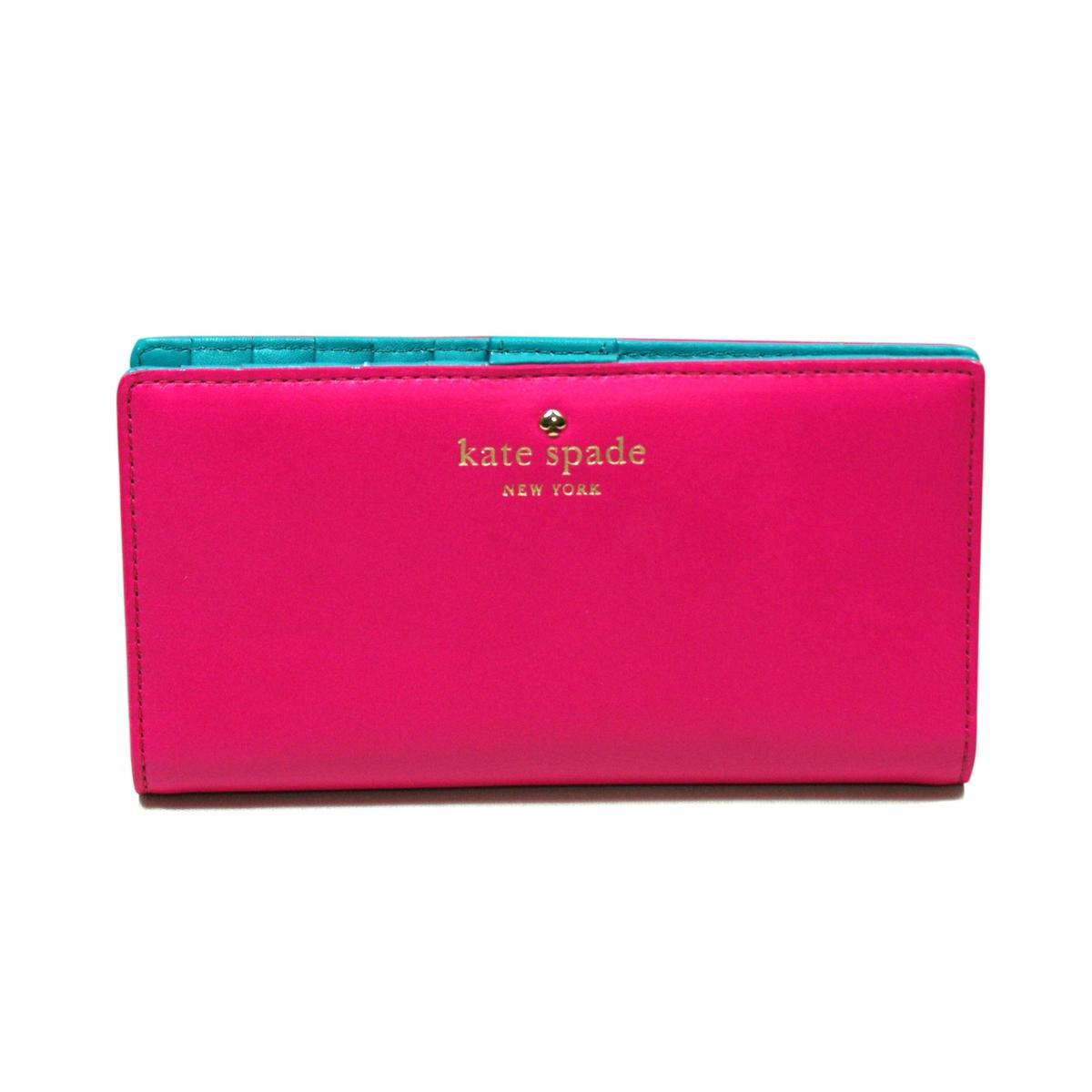 Kate Spade Stacy Brightspot Avenue Peony Pink Small Wallet