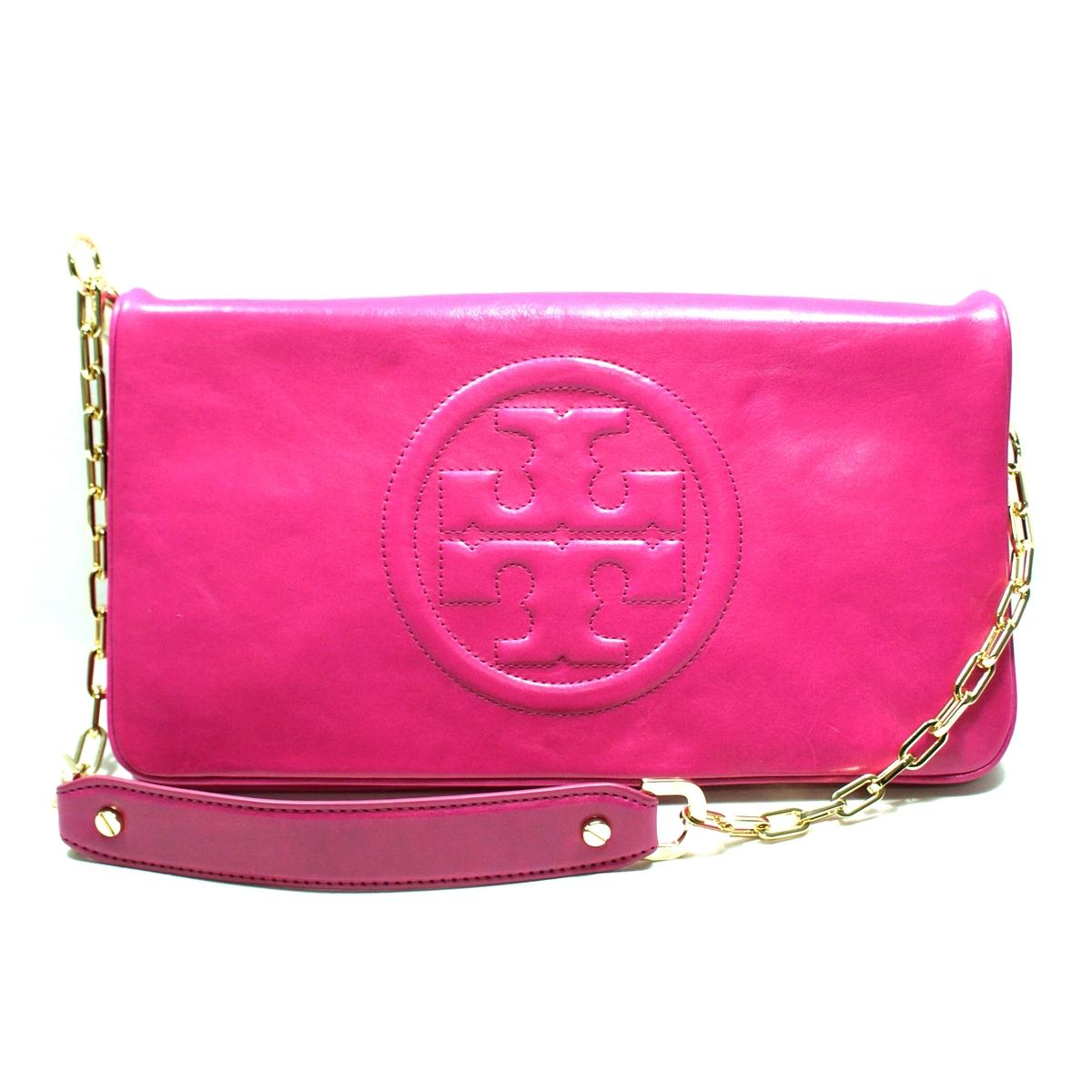 Case Design tory burch cell phone cases : Tory Burch Magenta Leather Bombe Reva Clutch/ Shoulder Bag #90009600 ...