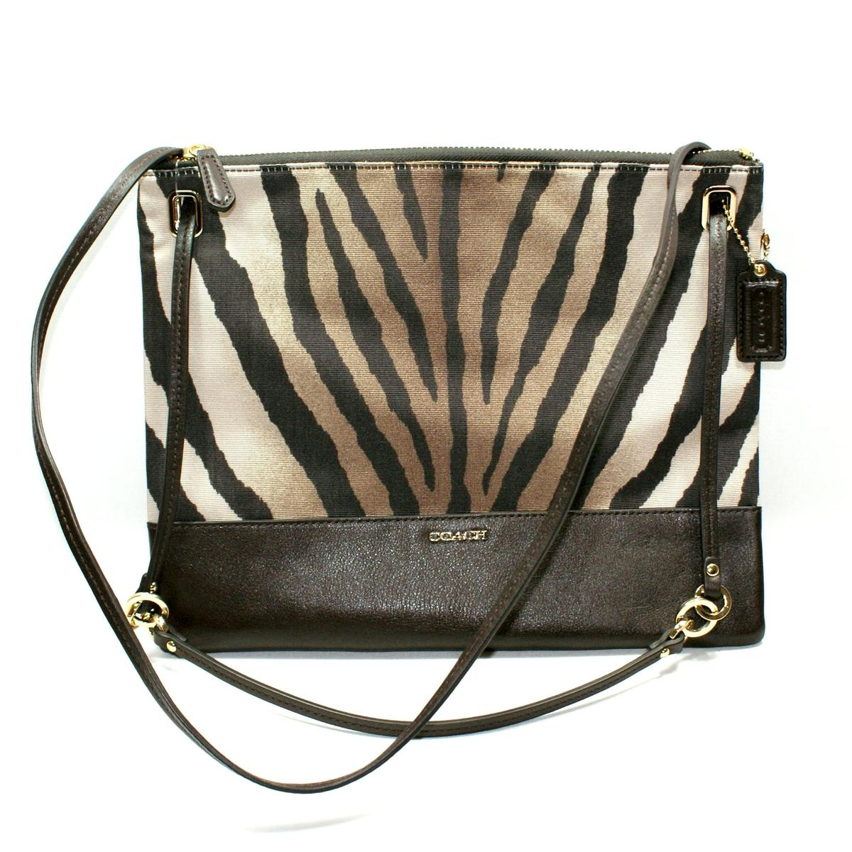 Coach Madison Zebra Convertible Hippie Shoulder Crossbody