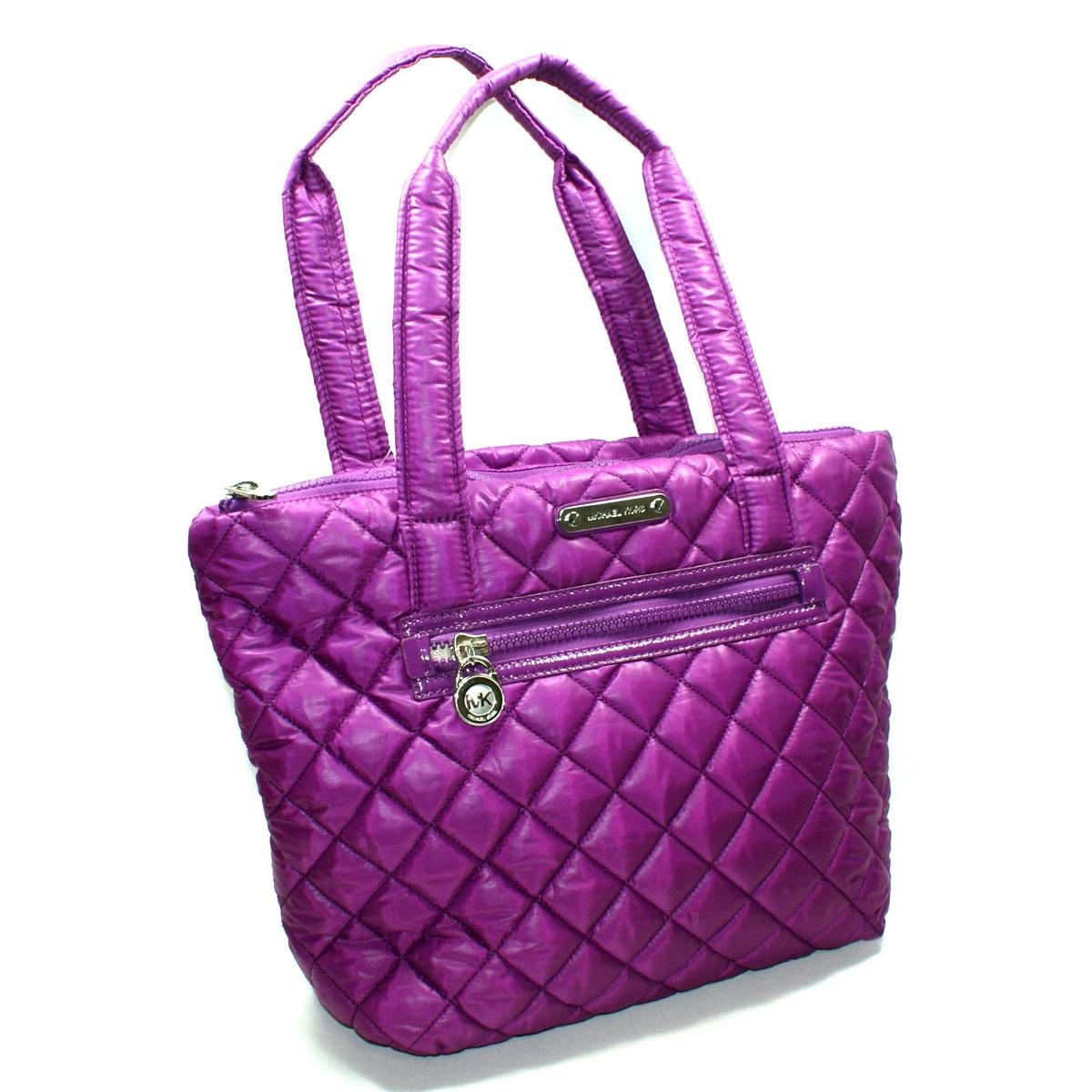 07afd517856af6 Home · Michael Kors · Sadie Quilted Navy Pomegranate Nylon Tote. CLICK  THUMBNAIL TO ZOOM. Found ...