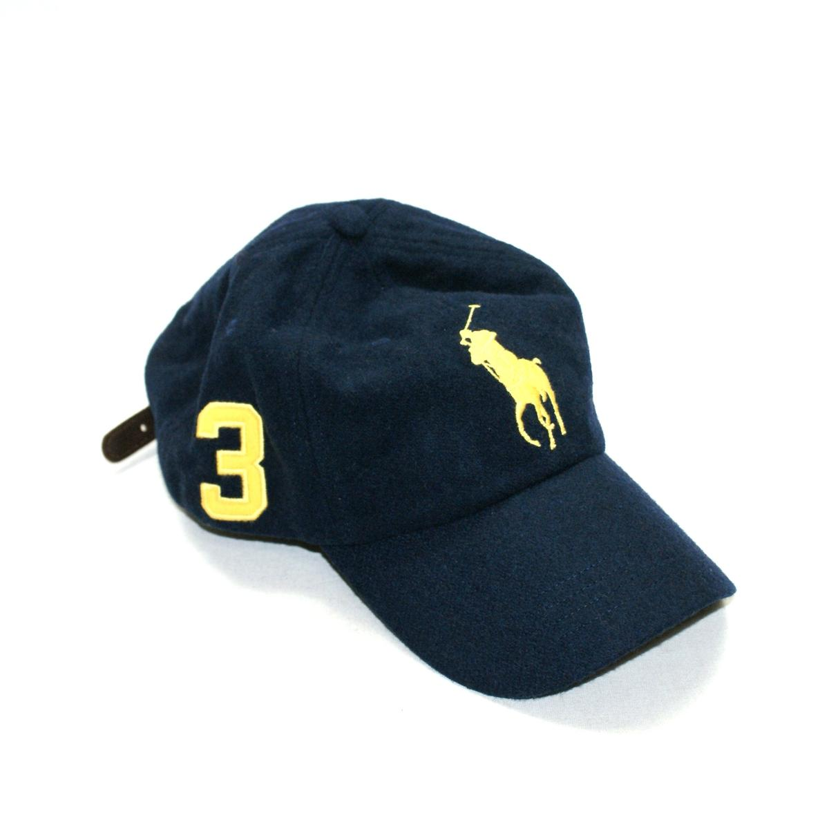 36026bf7aa790 Home · Polo Ralph Lauren · Classics Signature Big Pony Navy Blue Wool Cap   Hat MCMLXVII. CLICK THUMBNAIL TO ZOOM. Found ...