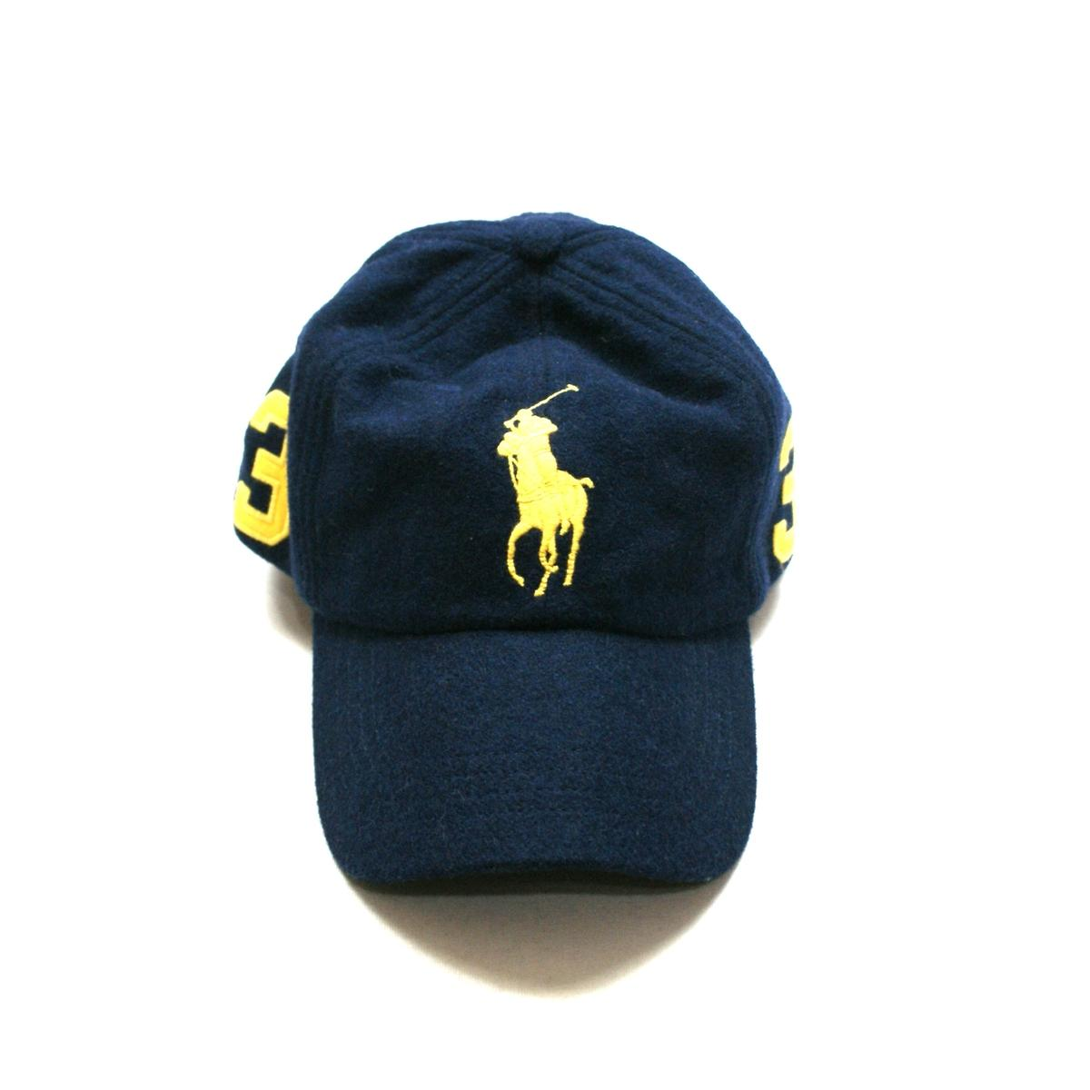 ac2b0888 Home · Polo Ralph Lauren · Classics Signature Big Pony Navy Blue Wool Cap/  Hat MCMLXVII. CLICK THUMBNAIL TO ZOOM. Found ...