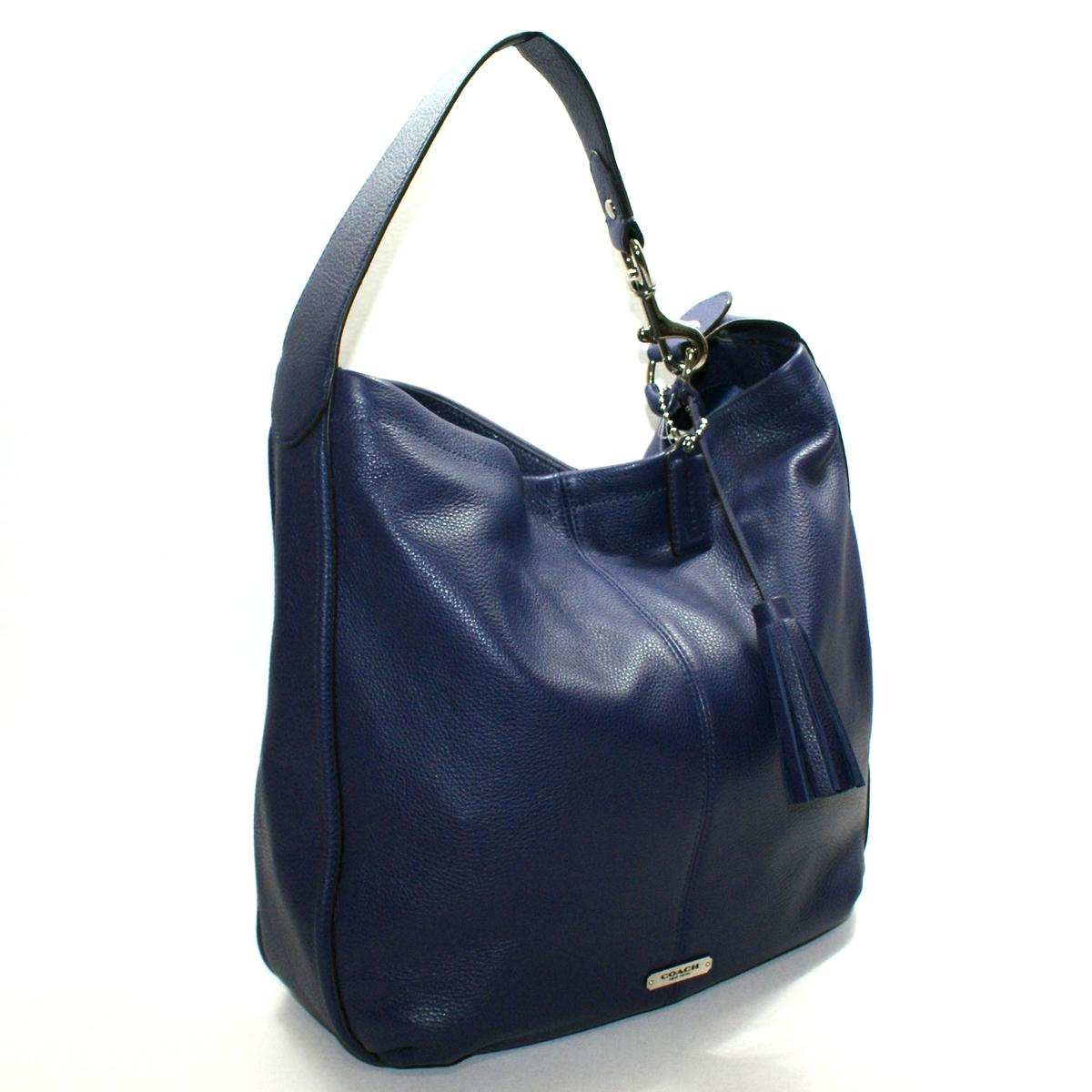 Coach Avery Leather Hobo Bag Indigo 23309 Coach 23309