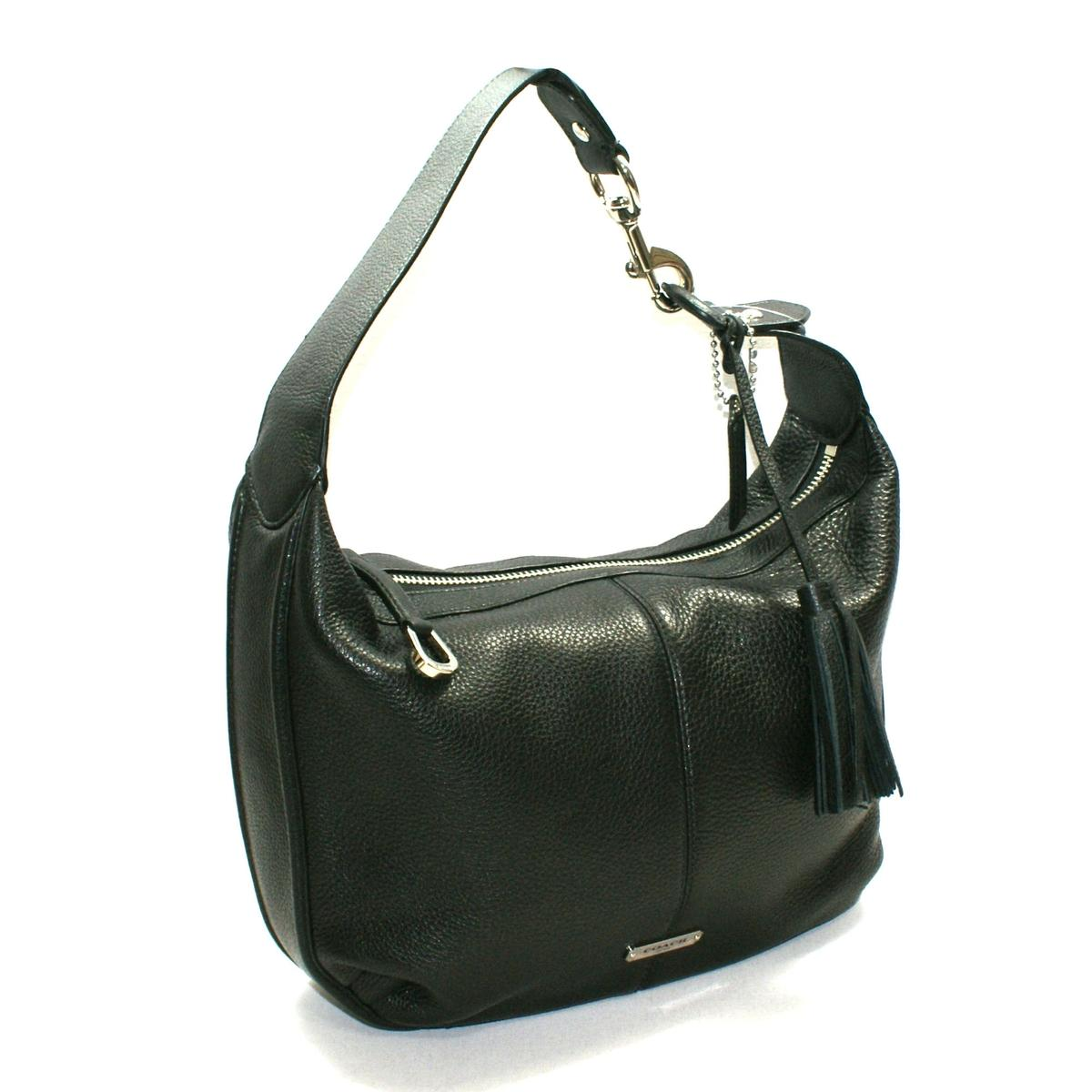 Coach Avery Leather Small Hobo Bag Black 23960 Coach 23960