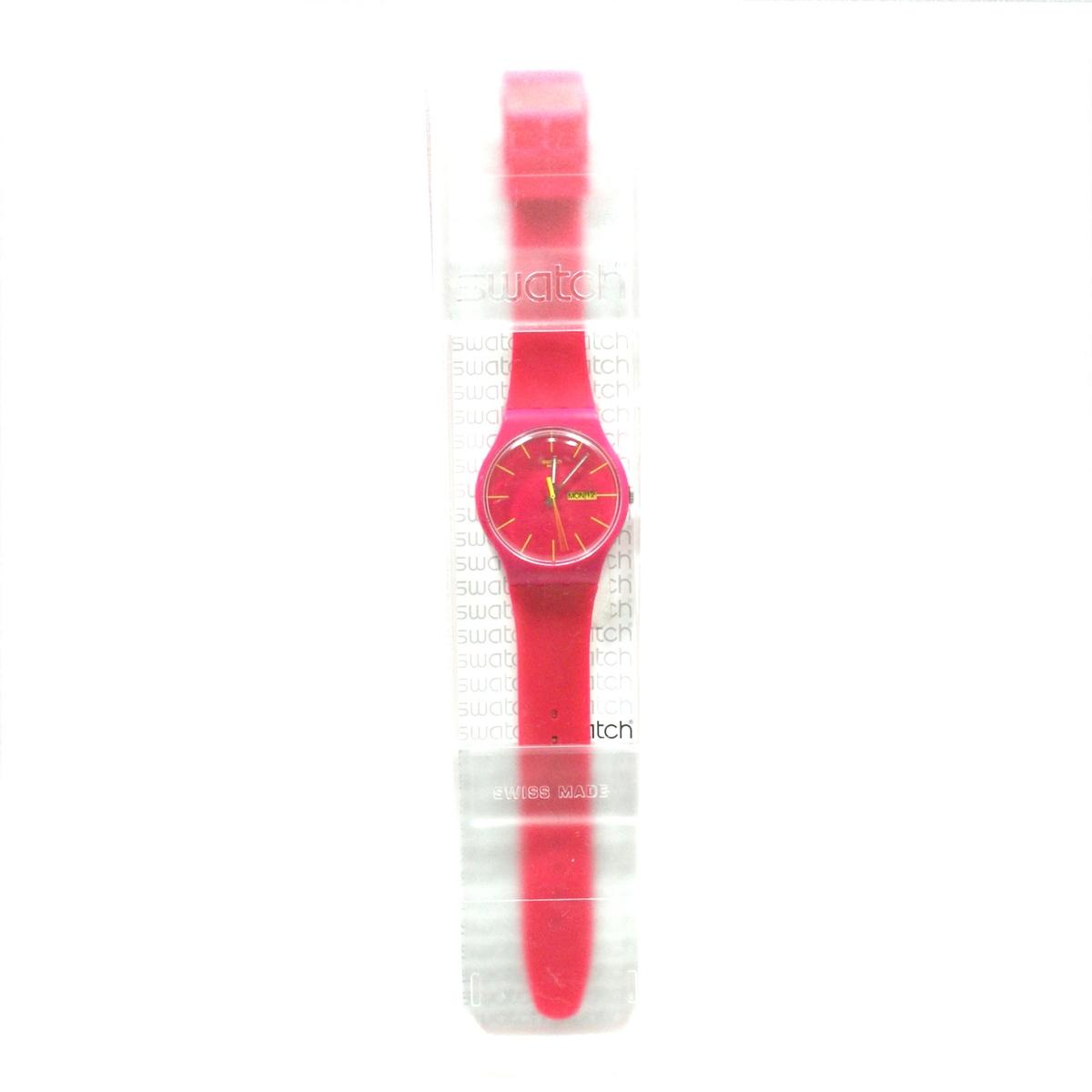 Swatch Rubine Rebel Pink Silicone Watch Suor704 Swatch