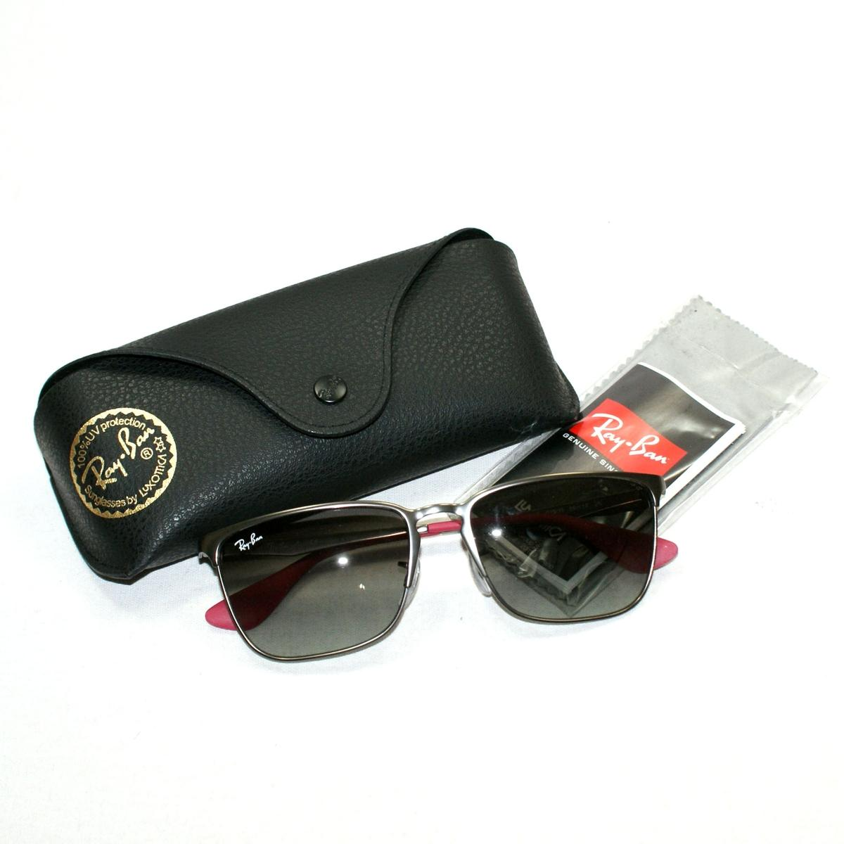 a266e2b0f24 Home · Ray Ban · Clubmaster Aluminum Polarized P3 Plus Lens Sunglasses.  CLICK THUMBNAIL TO ZOOM. Found ...