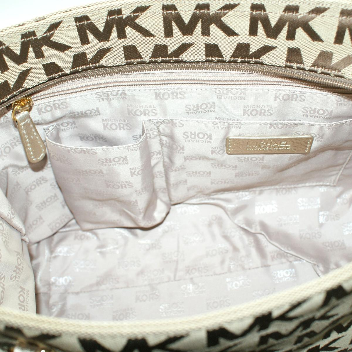 204306b0a4cc Home · Michael Kors · Jet Set Chain MK Signature Jacquard Tote/ Shoulder  Bag Gold. CLICK THUMBNAIL TO ZOOM. Found ...