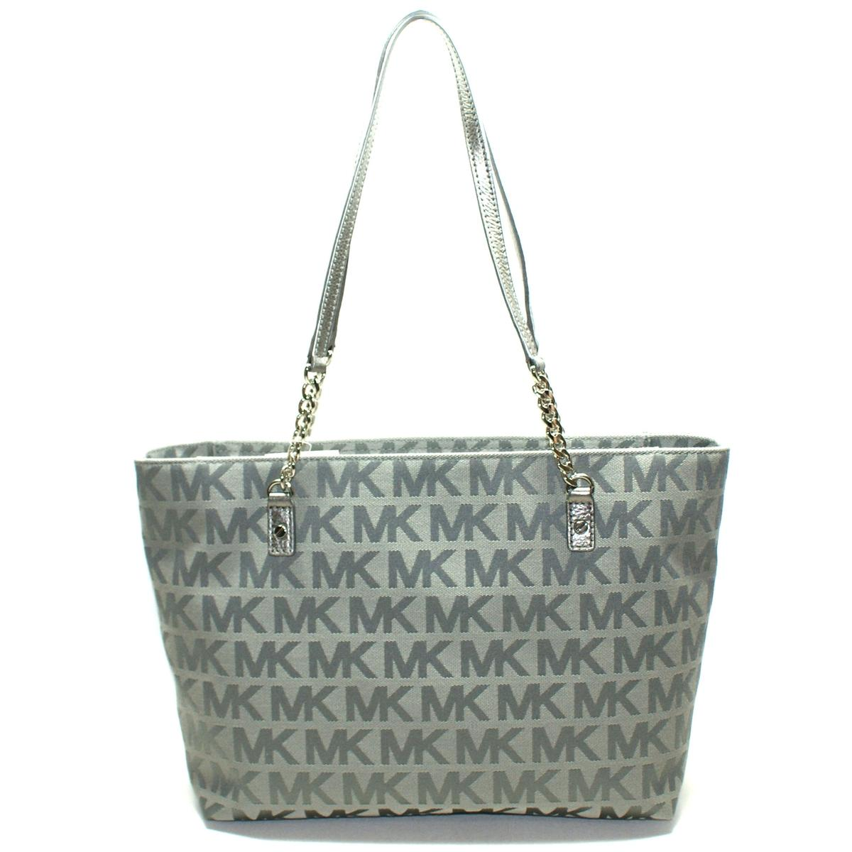 d5d142fcead9 Home · Michael Kors · Jet Set Chain MK Signature Jacquard Tote/ Shoulder Bag  Gunmetal. CLICK THUMBNAIL TO ZOOM. Found In: Handbags