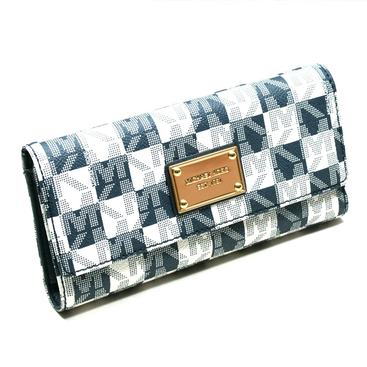 ebd599960d56 ... MK Signature PVC Checkbook Wallet/ Clutch Navy Blue. CLICK THUMBNAIL TO  ZOOM. Found ...
