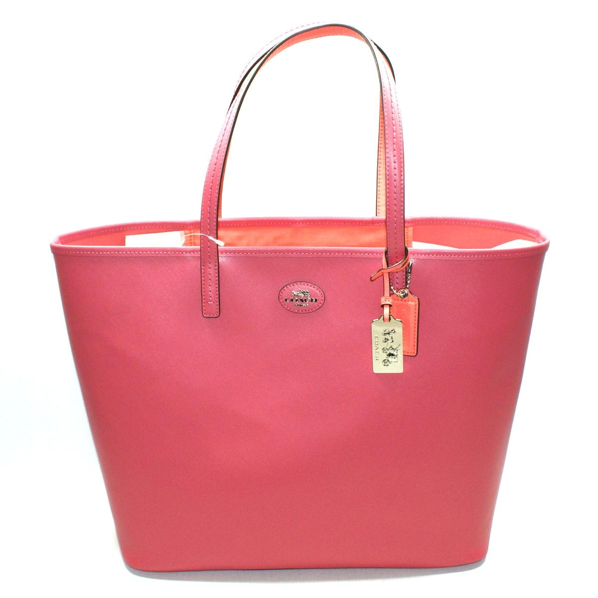49a212c293fc Home · Coach · Loganberry Coral Leather Large Tote Bag. CLICK THUMBNAIL TO  ZOOM. Found ...
