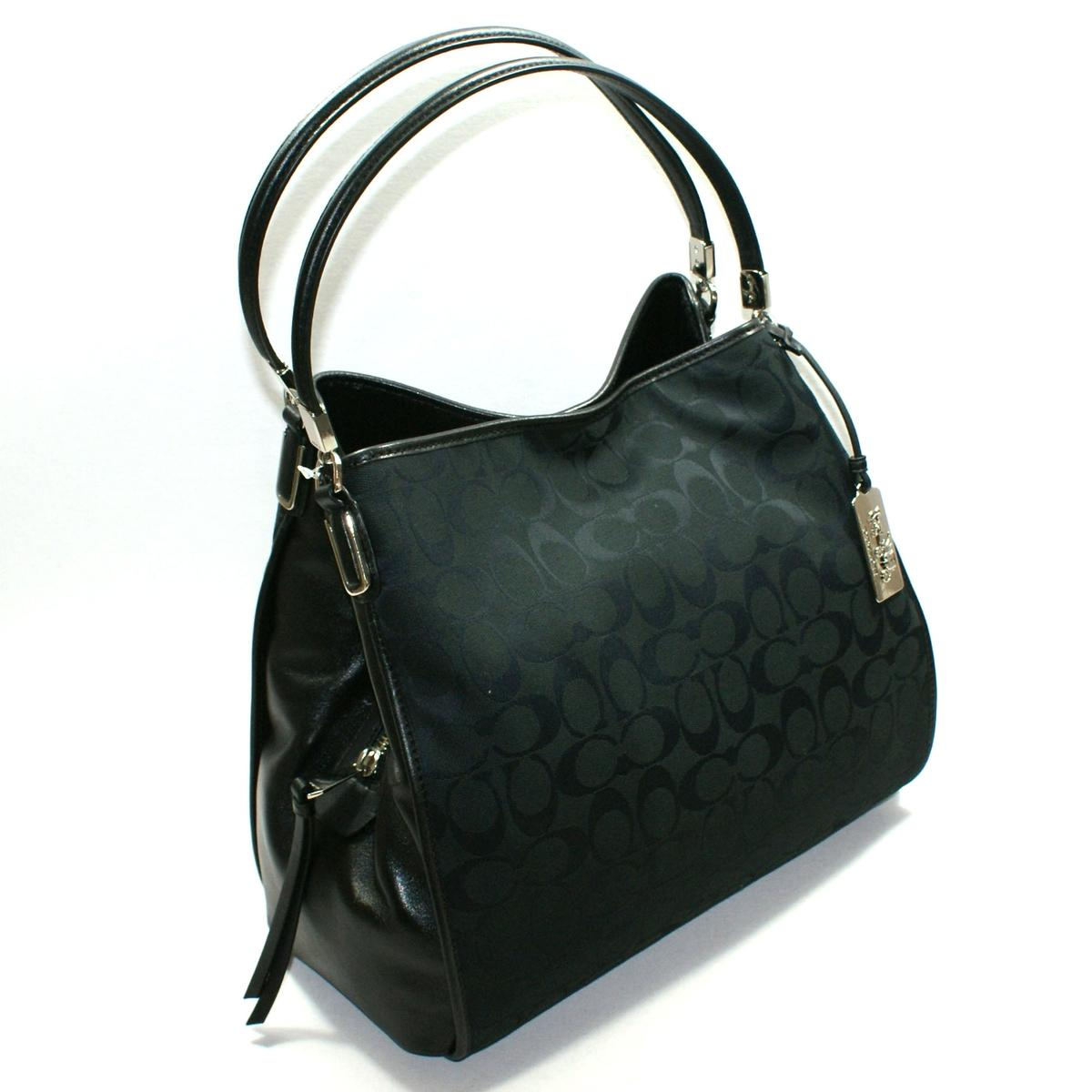 Coach Madison Signature Small Phoebe Hobo Bag Black 32356 Coach 32356