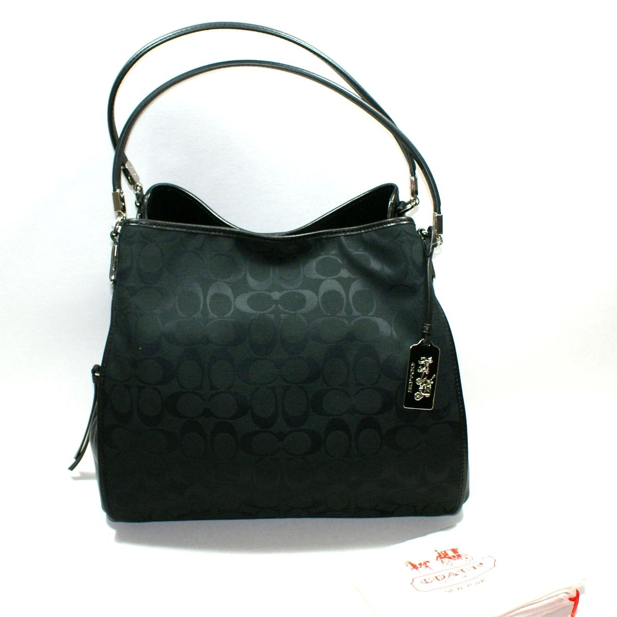 1f5fab6a96d7 ... denmark home coach madison signature small phoebe hobo bag black. click  thumbnail to zoom.