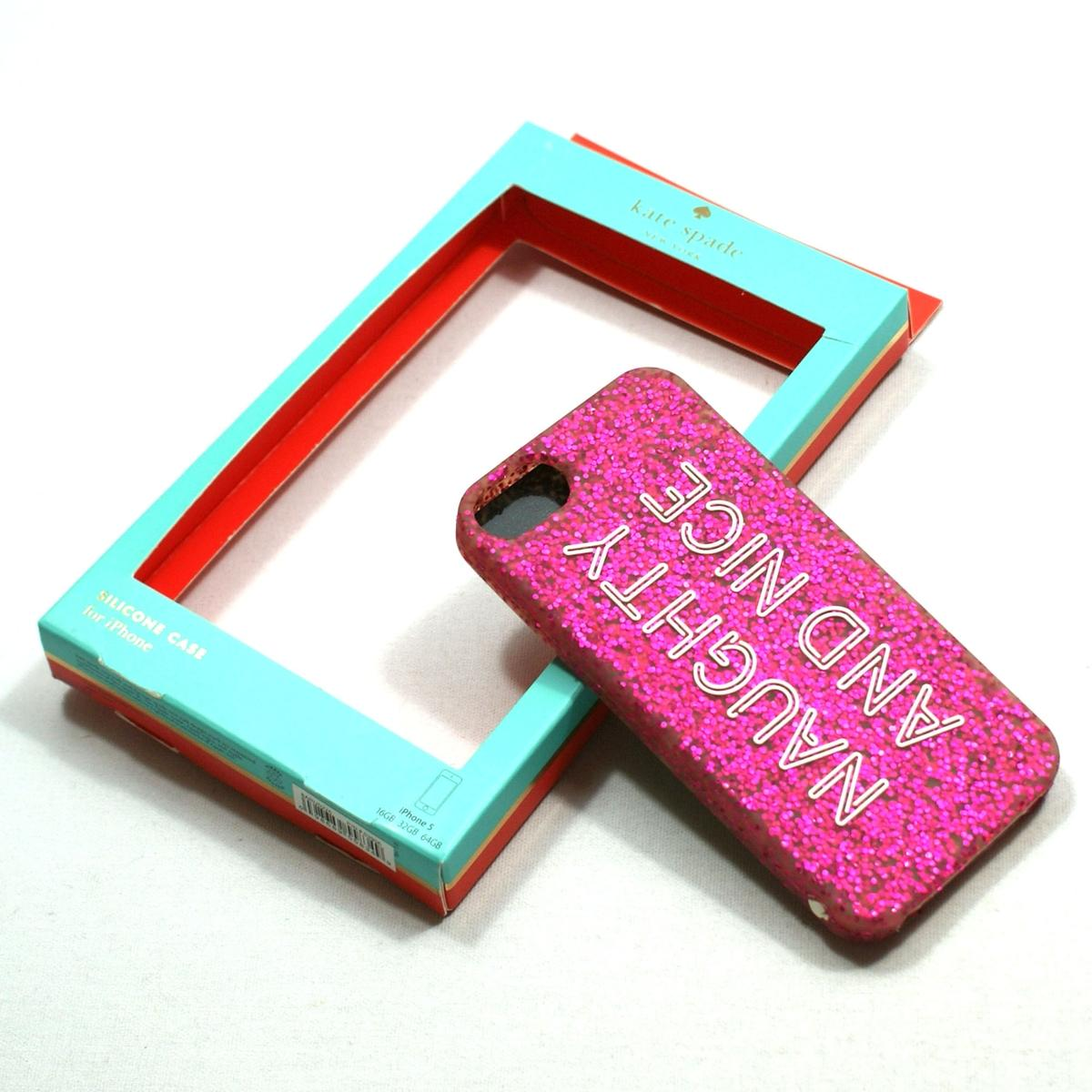 Kate Spade Iphone 5 Case Premium Silicone Nice Naughty For