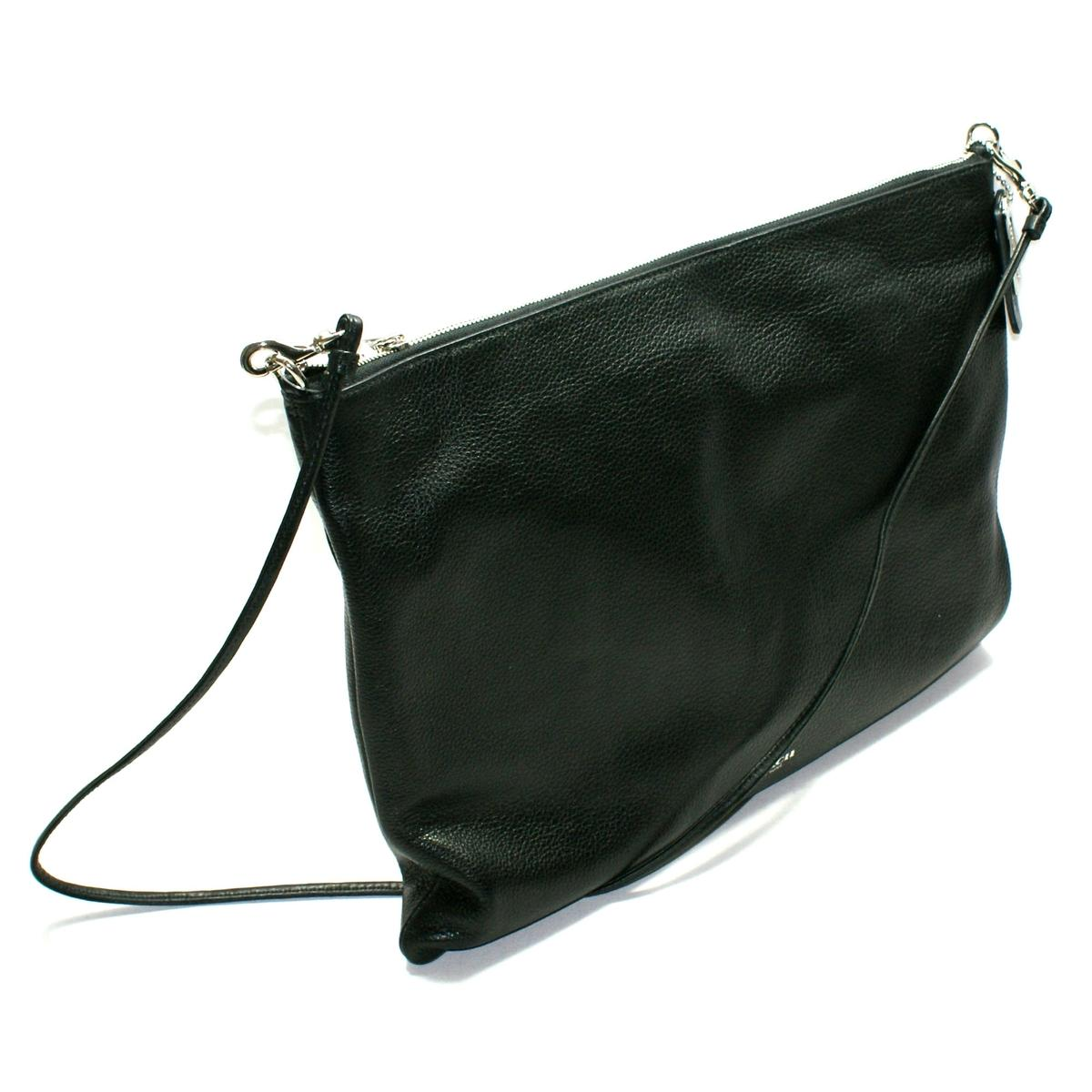 Black Leather Cross Shoulder Bag Blue Crossbody Bag