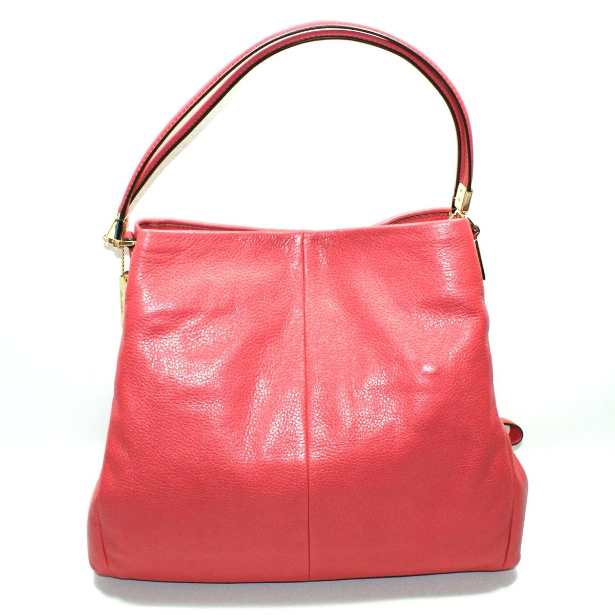 754dcd586df5 ... switzerland home coach madison leather small phoebe shoulder bag  loganberry. click thumbnail to zoom.