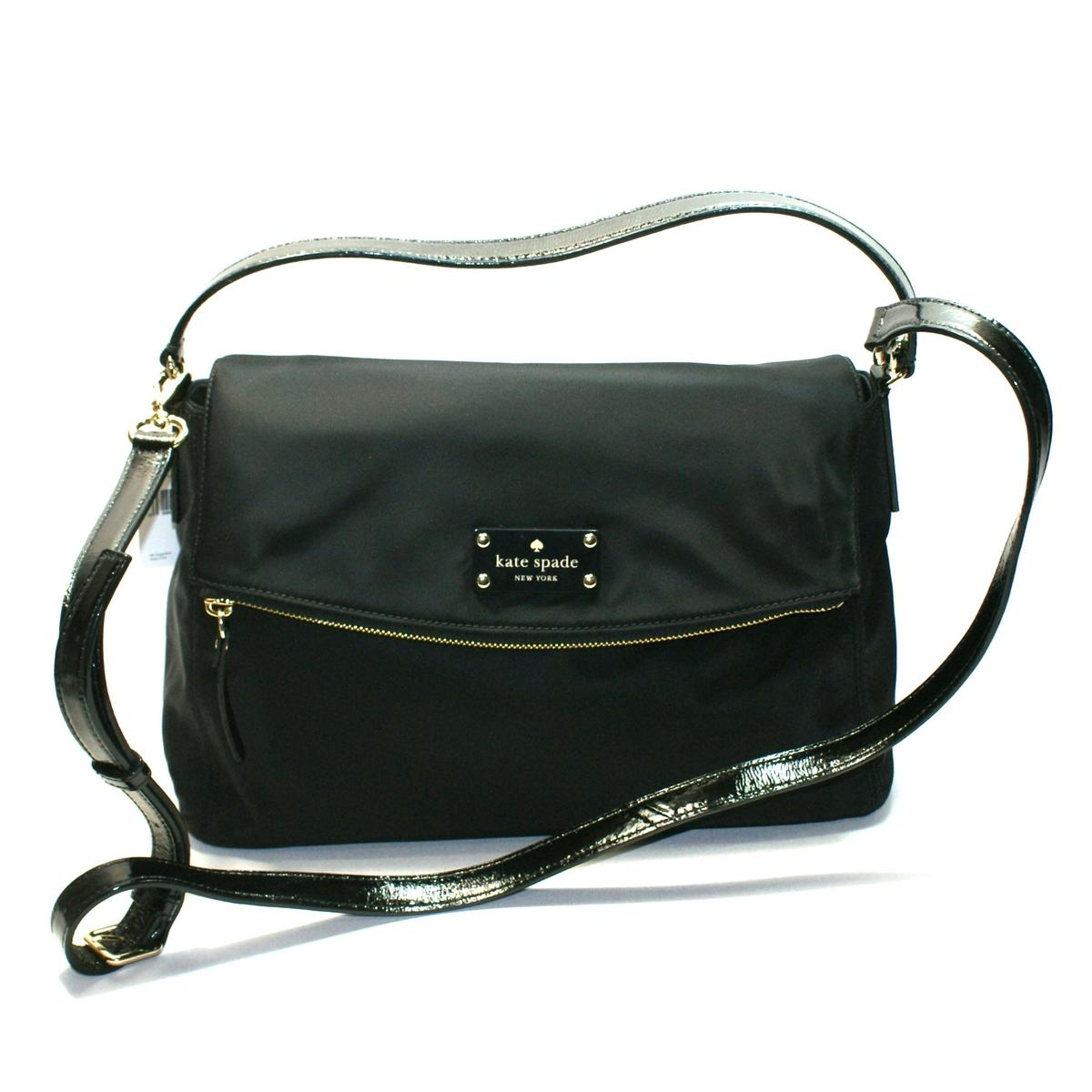 Kate Spade Little Minka Nylon Shoulder Bag Black Pxru4795