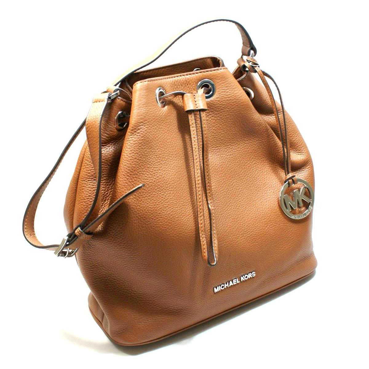 Michael Kors Jules Genuine Leather Large Drawstring Shoulder Bag Luggage 30f4sjll3l Michael