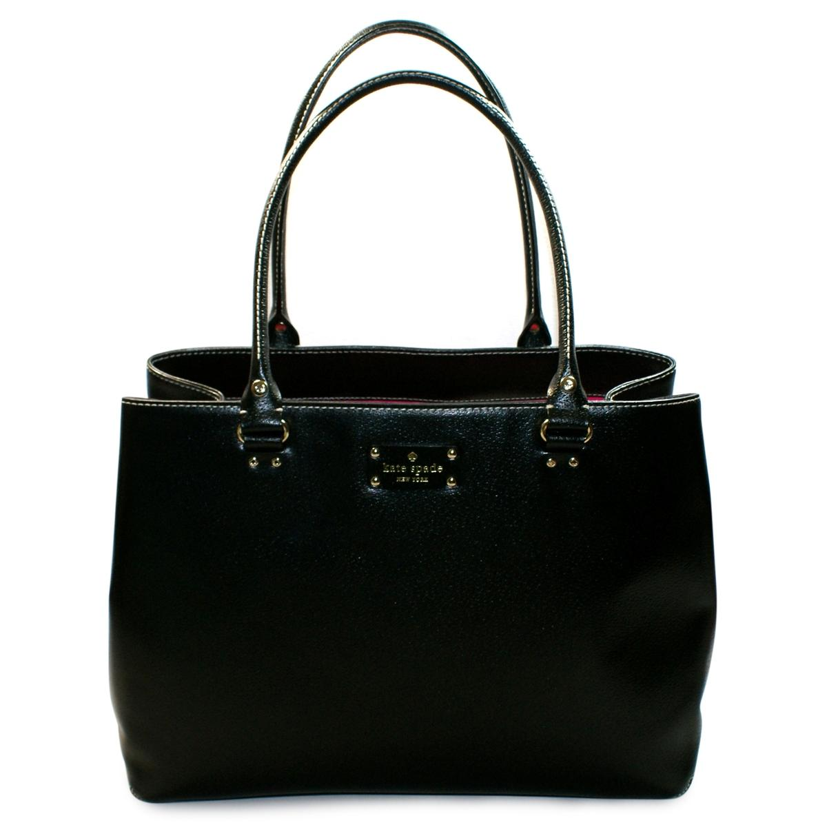 Kate Spade Fallon Wellesley Leather Large Tote Shoulder Bag Black Wkru1433 Kate Spade Wkru1433