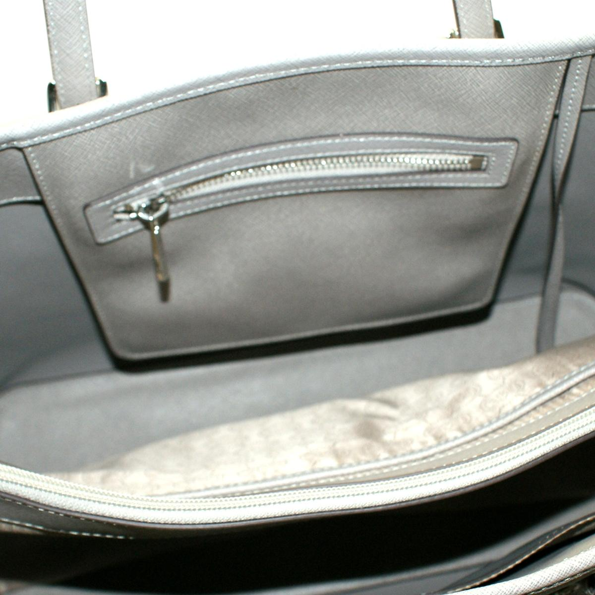 1adfd31a9f02 Home · Michael Kors · Jet Set Medium Travel Genuine Saffiano Leather Tote  Pearl Grey. CLICK THUMBNAIL TO ZOOM. Found ...