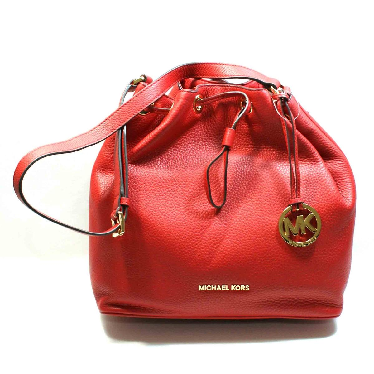 f44819e5f92a Home · Michael Kors · Jules Genuine Leather Large Drawstring Shoulder Bag  Red. CLICK THUMBNAIL TO ZOOM. Found In: Handbags