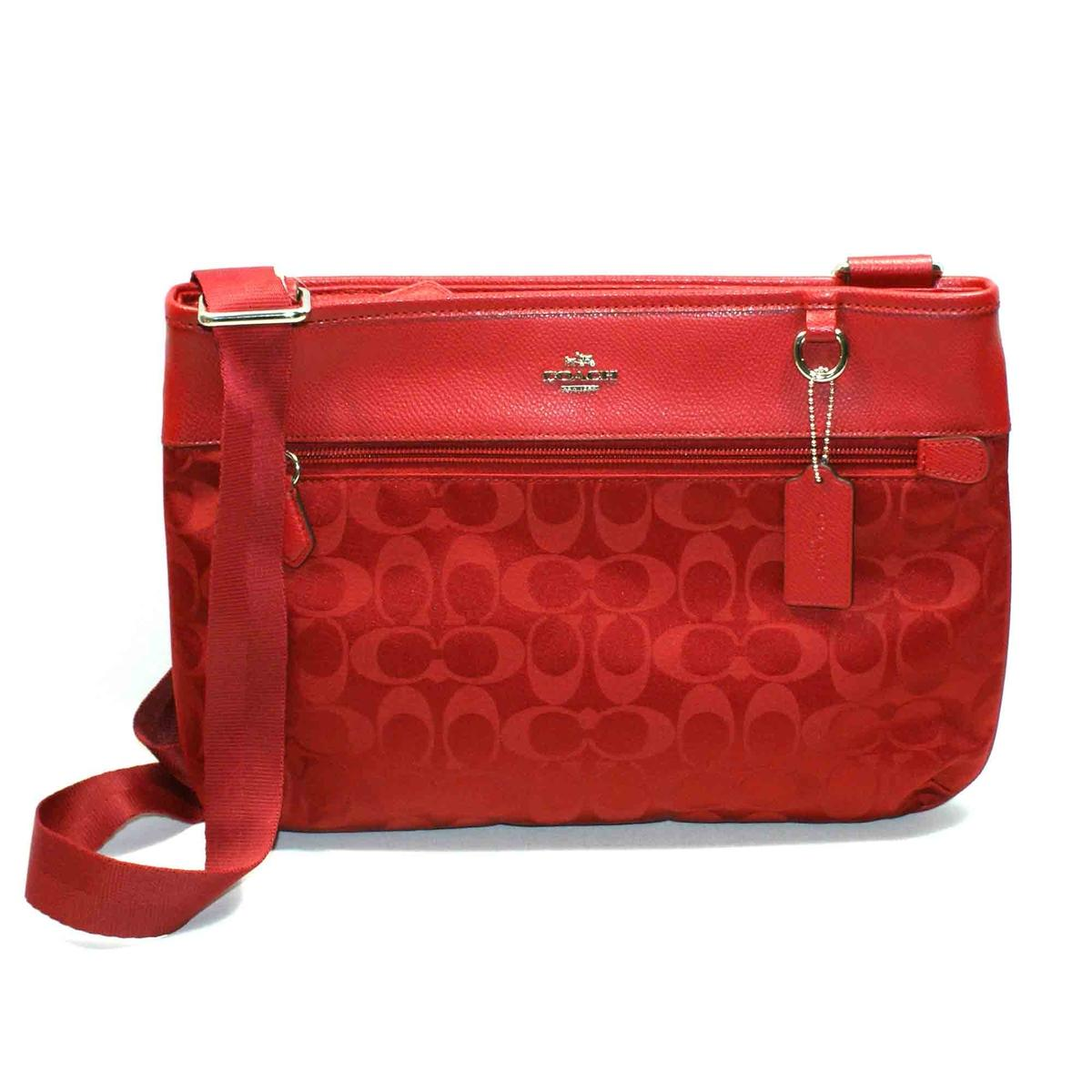 18d0a1fc5 ... coupon code for home coach signature nylon spencer crossbody bag red  currant. click thumbnail to