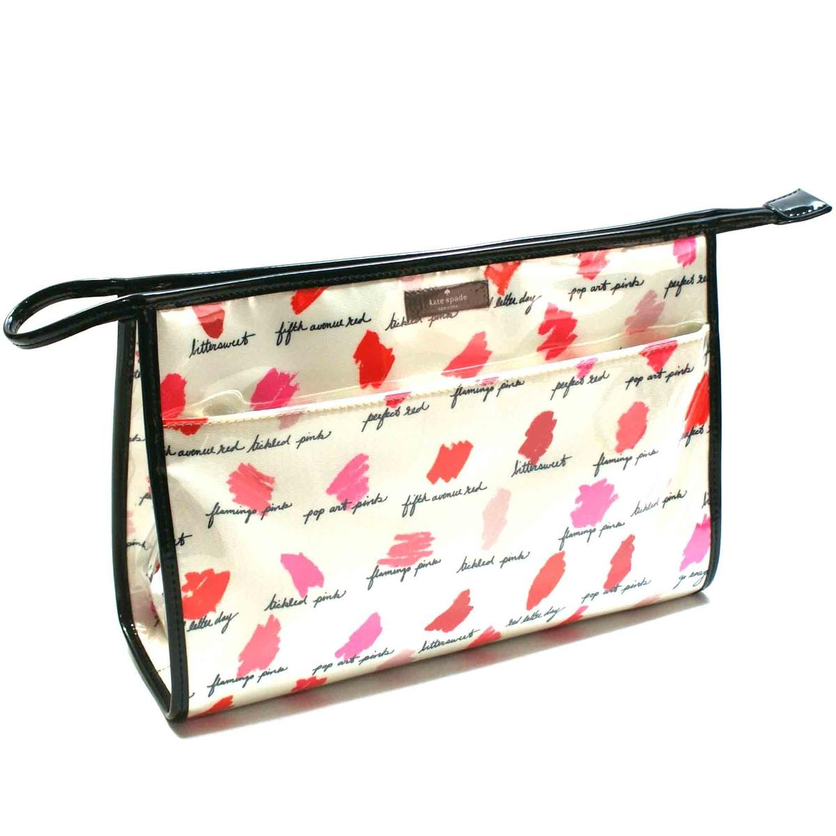 buy online 396be a5abf Kate Spade Large Heddy Lilac Court Cosmetic Bag Lipstick #WLRU2142 ...
