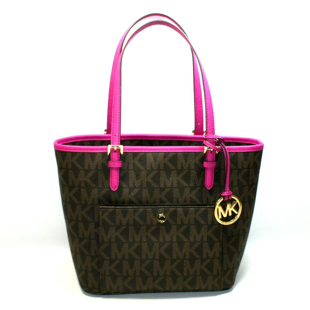 140da2981e62 ... Jet Set Medium Snap Pocket Tote Brown  Fuschia. CLICK THUMBNAIL TO  ZOOM. Found ...