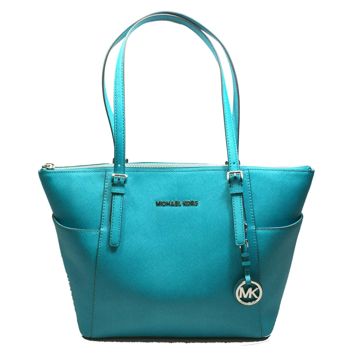 914bf94037f6 Home · Michael Kors · Jet Set East West Leather Top Zip Tote Tile Blue.  CLICK THUMBNAIL TO ZOOM. Found In: Handbags
