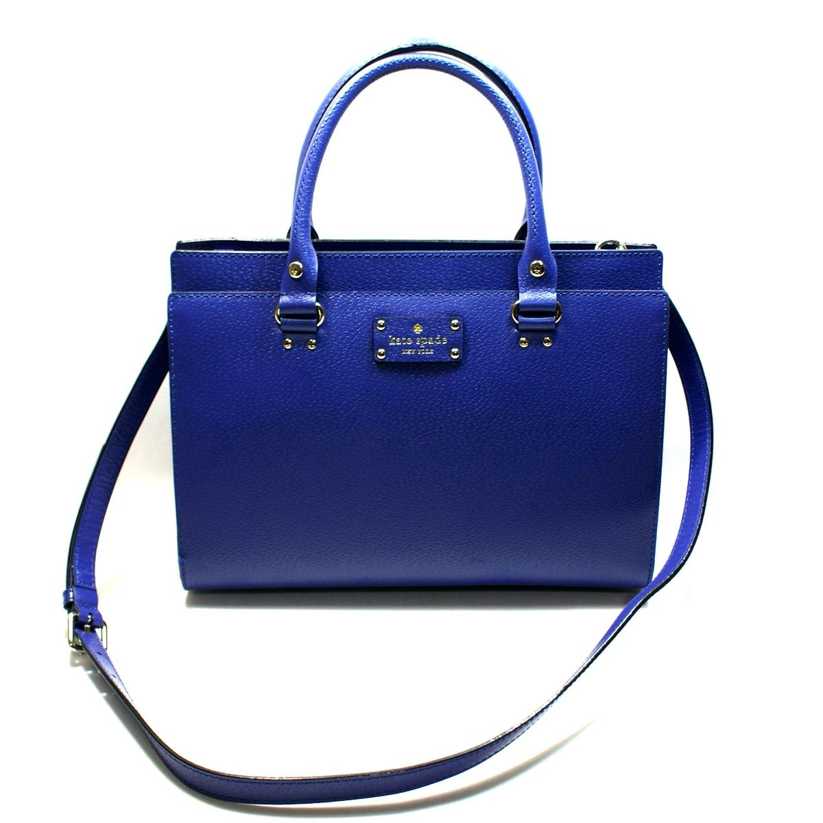 78ce05e534bba1 Home · Kate Spade · Durham Wellesley Leather Emperor Blue Satchel/ Crossbody  Bag. CLICK THUMBNAIL TO ZOOM. Found ...