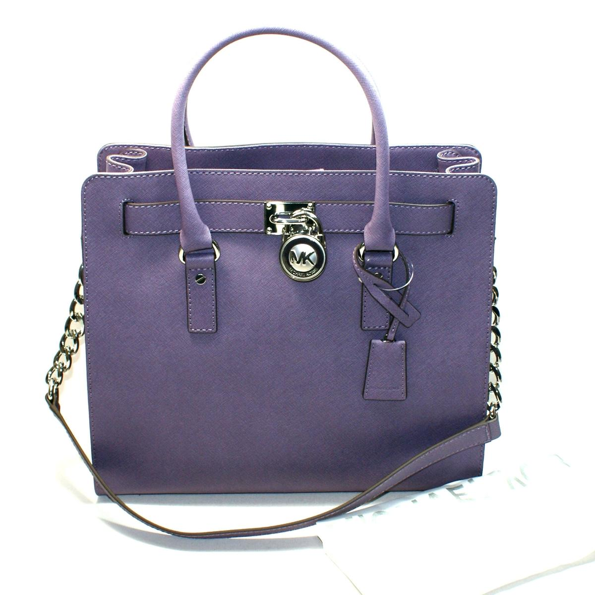 1b6872a79cf3 Home · Michael Kors · Hamilton Large Genuine Leather Tote/ Shoulder Bag  Wisteria. CLICK THUMBNAIL TO ZOOM. Found ...