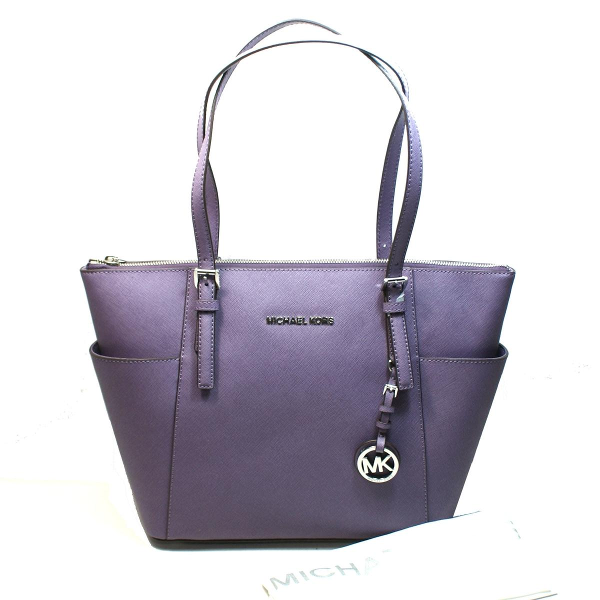54064c5301a6 Home · Michael Kors · Jet Set East West Leather Top Zip Tote Wisteria.  CLICK THUMBNAIL TO ZOOM. Found ...