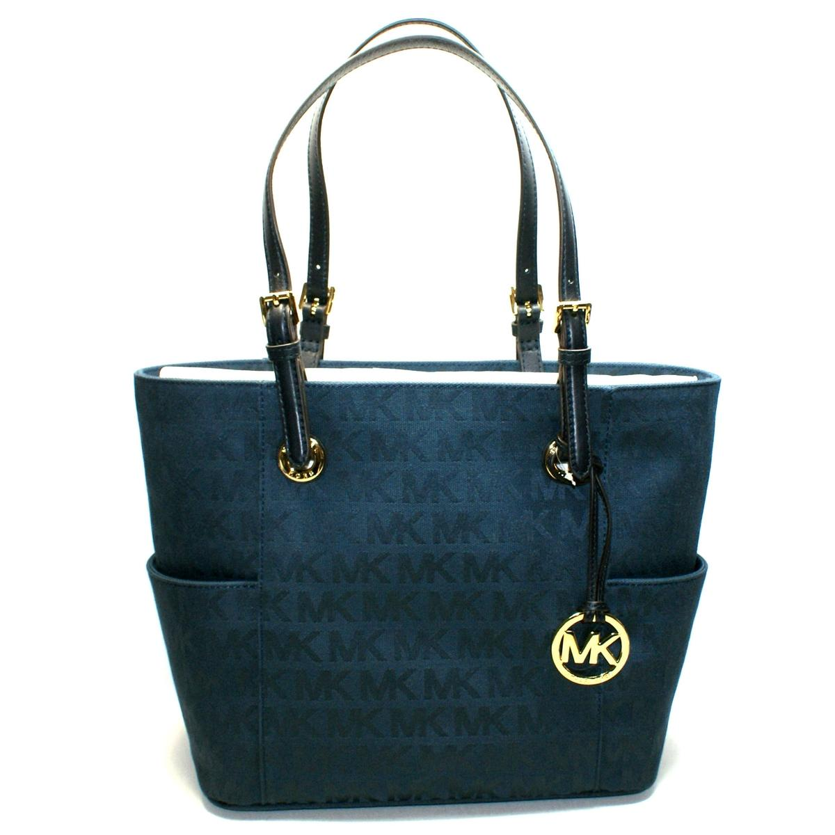 Michael Kors Jet Set East West Mk Signature Jacquard Tote